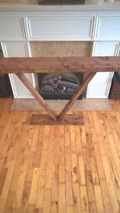 "Rustic hall / entry table h 29"" d 9"" l 48"" $60.00"