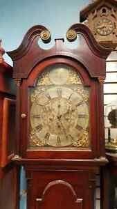 ANTIQUE LONG CASE GRANDFATHER CLOCK 230 YearsOld,Madein ABERDEEN