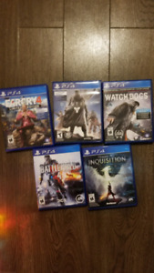 PS4 Games, $15 each, $50 for 5