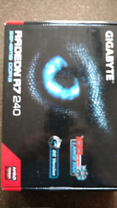 Radeon R7 240  new in the box. Tested works perfectly.