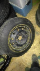 4 pneus hiver sur jante