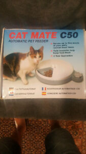 Cat toys and accessories (Auto food feeder, beds, scratch post)