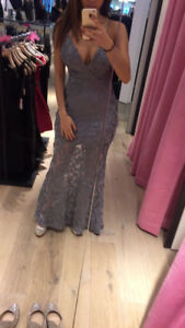 Mermaid silver SEQUENCE GOWN/ Dress -From Honey Boutiques