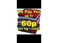 Cash for Clothes 60p per KG