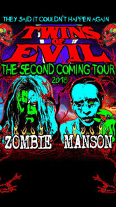 Rob Zombie and Marilyn Manson VIP GA PIT Tickets