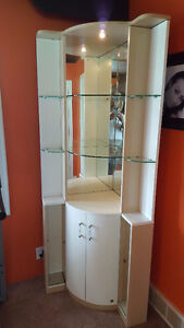 Corner display cabinet for Crystal with mirrors &glass shelves London Ontario image 1