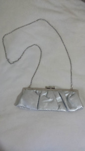 Silver Clutch Purse AND Tiara