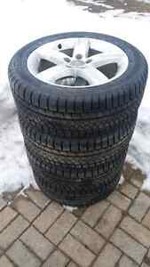 Audi a4 winter tire package. 225/50R17 brand new tires.  Kitchener / Waterloo Kitchener Area image 1