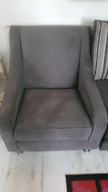 Single Used Grey Chair