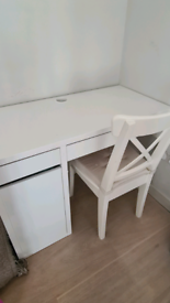 IKEA home office desk and chair