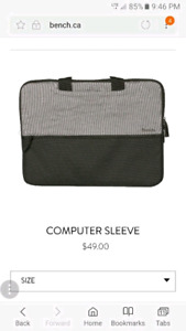 Bench computer sleeve