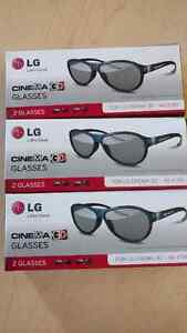 Six 3D LG Cinema Glasses AG-F310 with Cleaning Cloths Kitchener / Waterloo Kitchener Area image 1