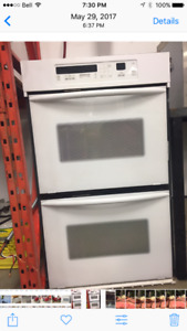 Kitchen Aid Double oven and matching 5 burner range