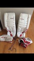 Ccm extreme flex pro pads 29+1 and glove and blocker 400 jr