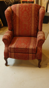 Fauteuil Queen Anne inclinable