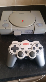 Playstation One with Controller and Memory Card