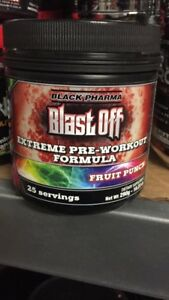 Black Pharma Blast Off DMAA Extreme Pre-WORKOUT  VERY RARE