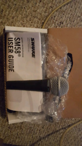 Shure SM58 Cardoid Dynamic Microphone & Cable