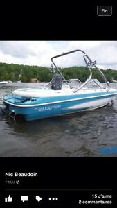 Open deck Glastron ssv175 wake boat