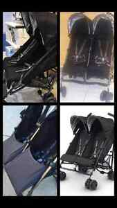 Double UppaBaby Umbrella Stroller