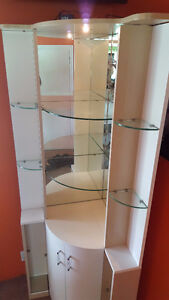 Corner display cabinet for Crystal with mirrors &glass shelves London Ontario image 2