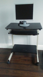 Computer Table and Monitor