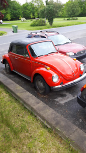 volks beetle convertible 1978