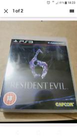 Game- Resi Evil 6 for PS3