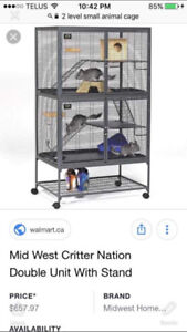 Two story critter cage
