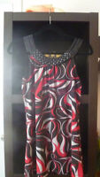 NEW COLORFUL EMBELLISHED SUMMER TOP. SZ.S-M  NEVER WORN
