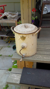 Antique SMP Triumph Butter Churn,Hand Crank, Metal, circa 1900