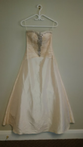 Gown with embellishments - cream colour