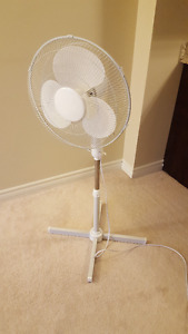White pedestal Fan - great condition