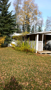 1 acre full service lot with an early 1970 mobile home