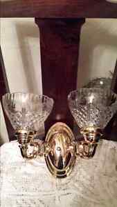 """2 Beautiful crystal shade wall sconce's shade size is 4 1/2"""" hig Kitchener / Waterloo Kitchener Area image 2"""