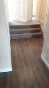 Laminate floor installation, also water proof laminate too  Wood