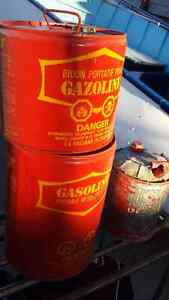 Gasoline Containers Vintage x3