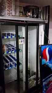 Pepsi Fridge with sliding doors  needs compresser