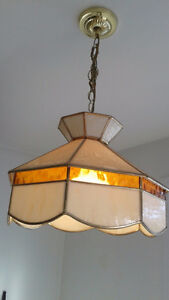 Beautiful vintage stained glass hanging ceiling lamp for sale