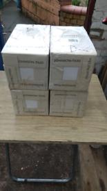 176 White ceramic Johnson wall tiles 147mm x 147 mm