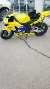 For sale or trade Honda cbr 600rr solo tail two helmets two coat