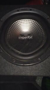 "12""subwoofer with duel channel amp-2000watt wires included $120"