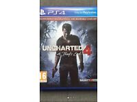 UNCHARTED 4 BRAND NEW AND SEALED