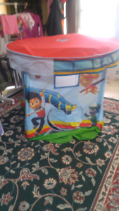 Canopy princess bed and paw patrol tent