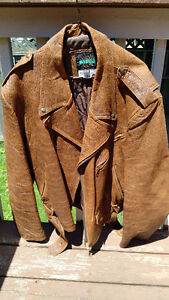 Bike Jacket - Brown leather, size 42/44