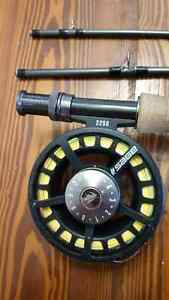 Sage approach 6 WT rod / reel fly fishing combo/peche a mouche West Island Greater Montréal image 3