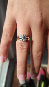 Engagement Ring and Wedding Band Combo