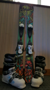 119 K2 twin tipped skis/Salomon 23.5 boots