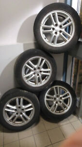 4 mags jantes rims 16po 5x100 original subaru en bonne condition