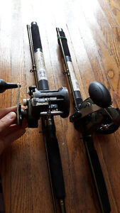 2 x Shakespeare Trolling line counter rod/reel combos